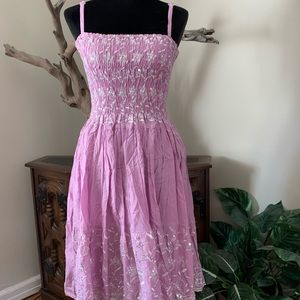 New Lavender Ruched Bodice Summer Dress